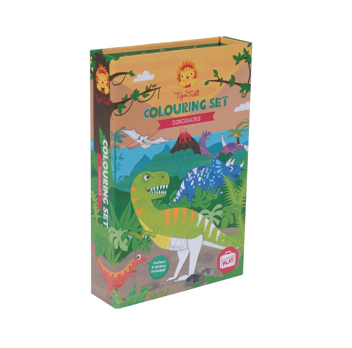 set-para-colorear-dinosaurios-de tiger-tribe-en-el-mundo-de-mico
