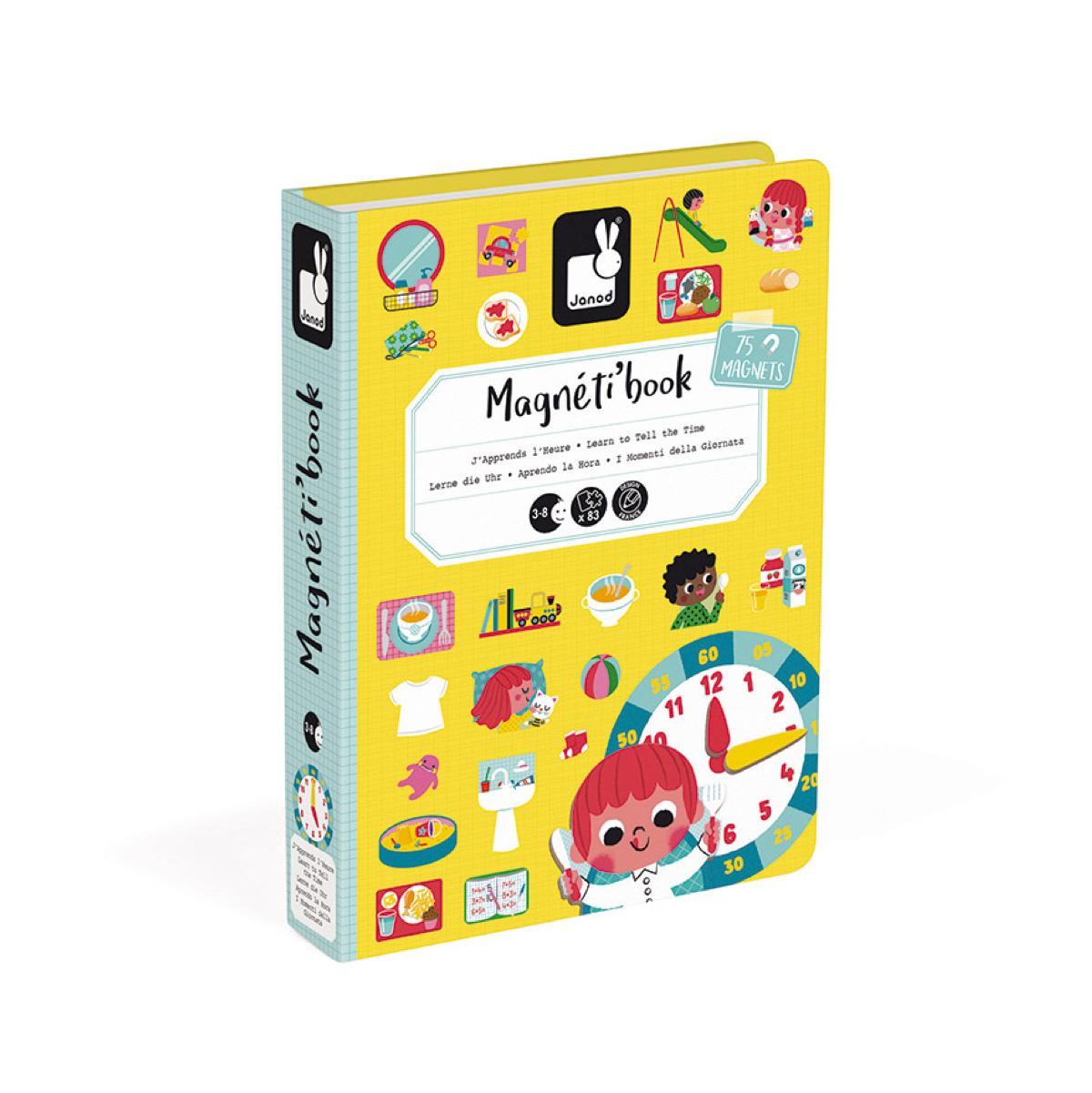 magnetibook-aprendo-la hora-janod-el-mundo-de-mico