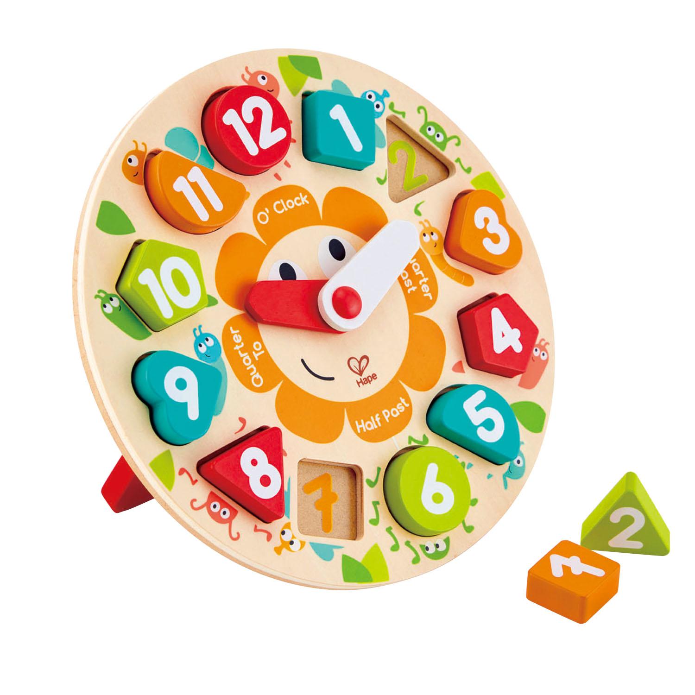 reloj-puzzle-encajable-ingles-hape-el-mundo-de-mico